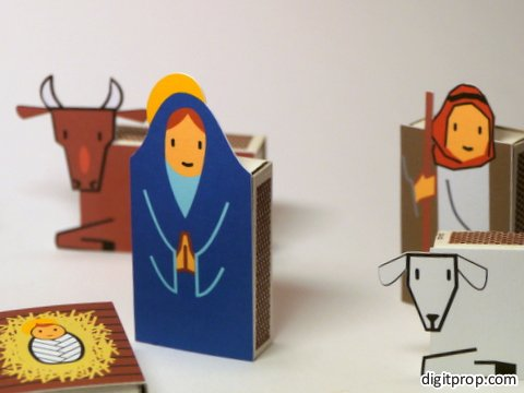 Diy advent calendar nativity scene digitprop paper design if you want to make this yourself the good news is that its extremely straightforward just print the pdf template see below on sturdy cardboard solutioingenieria Choice Image