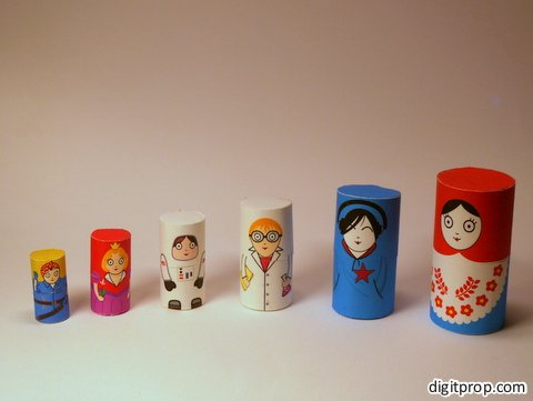 Matryoshka Doll Paper TOy
