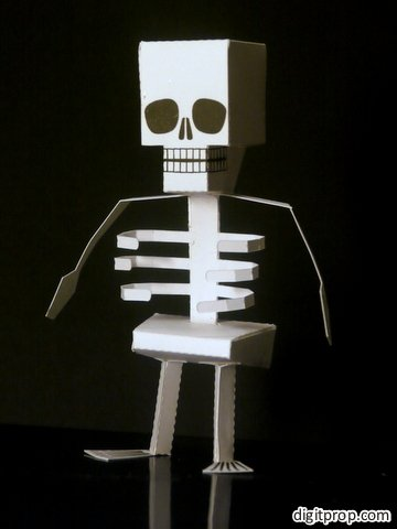 Skeleton Paper Toy