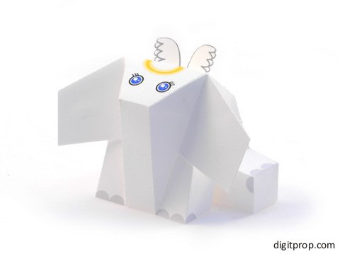 Elephriend Angel Paper Toy