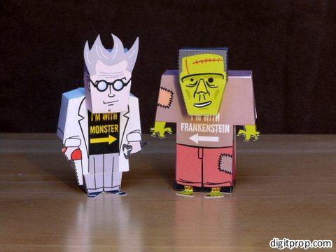 Dr Frankenstein Monster Paper Toy