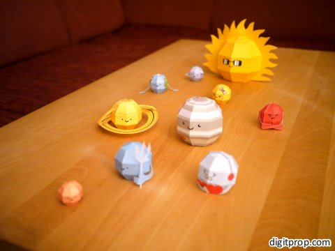 Solar system paper crafts
